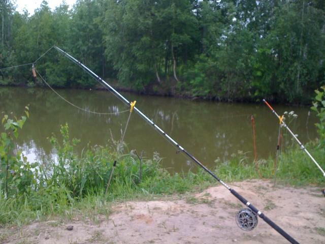 Рыбалка на донки с катушками.