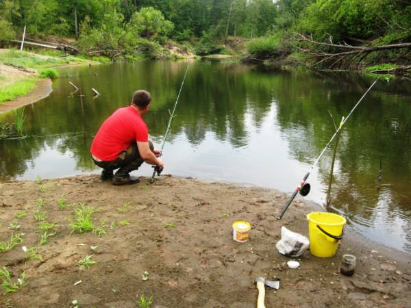 Рыбалка на донку с катушкой