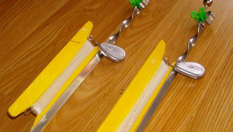 Оригинальная сборка закидушки на шампуре с мотовилом.
