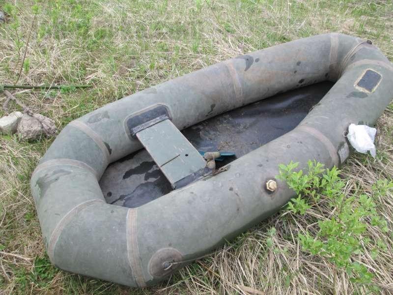 Лодка для завоза резинки на большое расстояние.