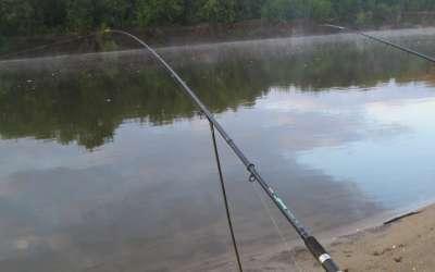 Осенняя рыбалка с фидером