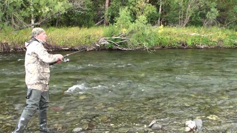 Быстрина с чистой водой - одно из перспективных мест рыбалки.