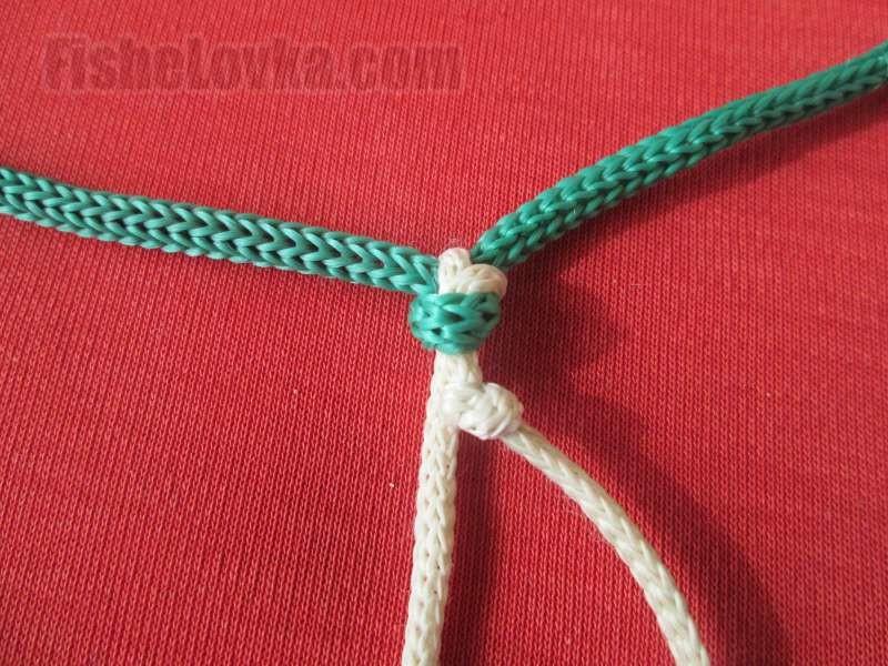 Как привязать поводок к плетенке для спиннинга