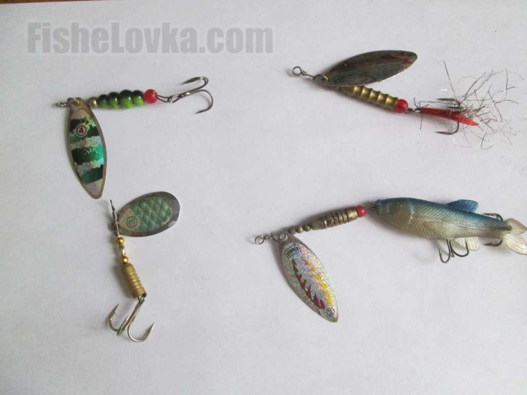 Блесна вертушка: уловистые рыболовные вращающиеся блесна