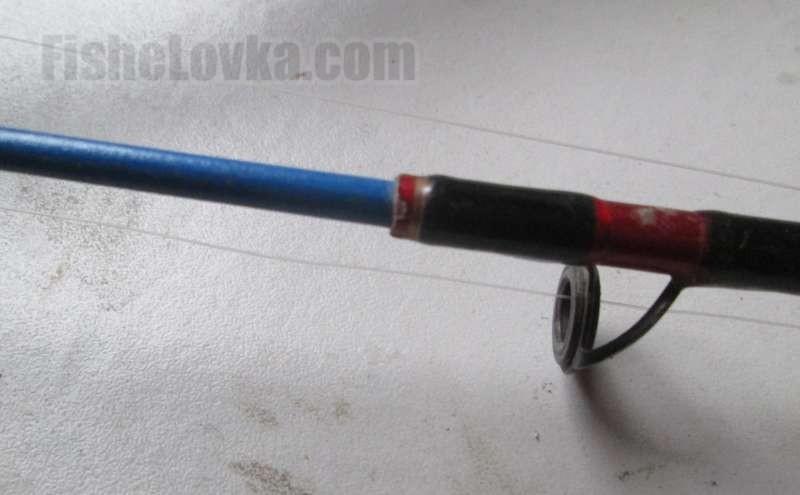 Вместо обломанного кончика красного цвета вклеен новый синий.