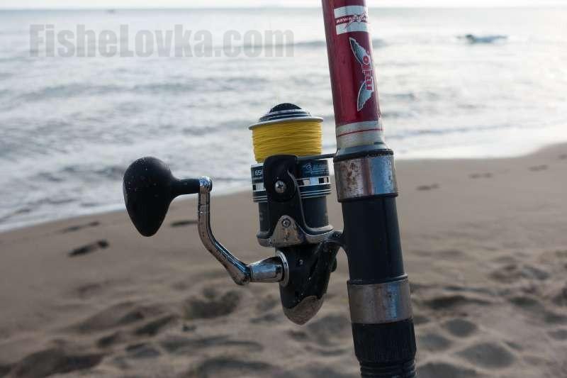 Удочка для ловли с морского берега.