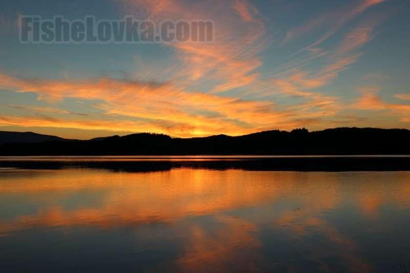 На одном из сибирских озер.