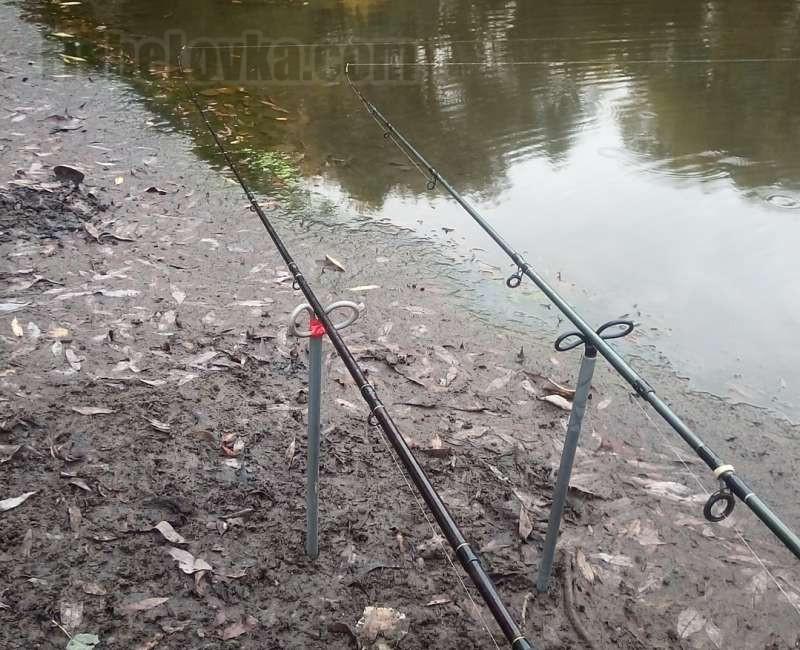 Ловлю можно вести сразу на два фидера.