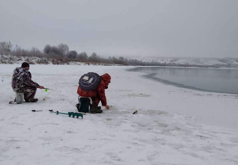 Естественная полынья на реке не позволяет рыбе задохнуться