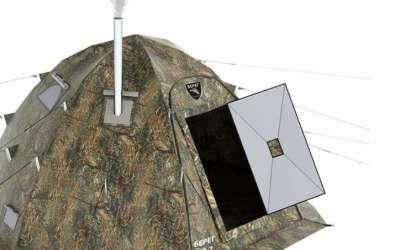 Как выбрать и установить печку в палатку для зимней рыбалки