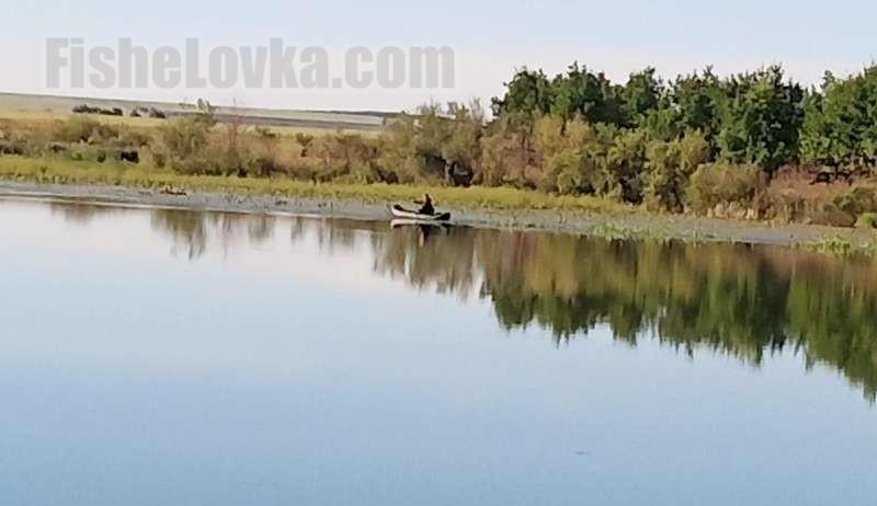На заросших водоемах лучше рыбачить с лодки